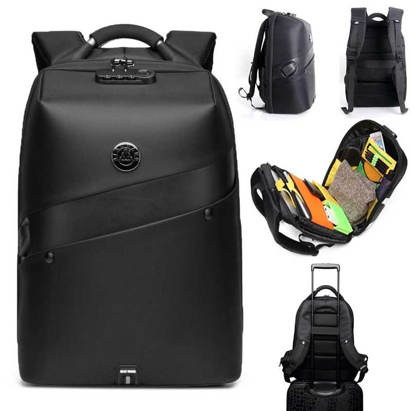 BIAO WANG WATERPROOF ANTI-THEFT BACKPACK USB CHARGER