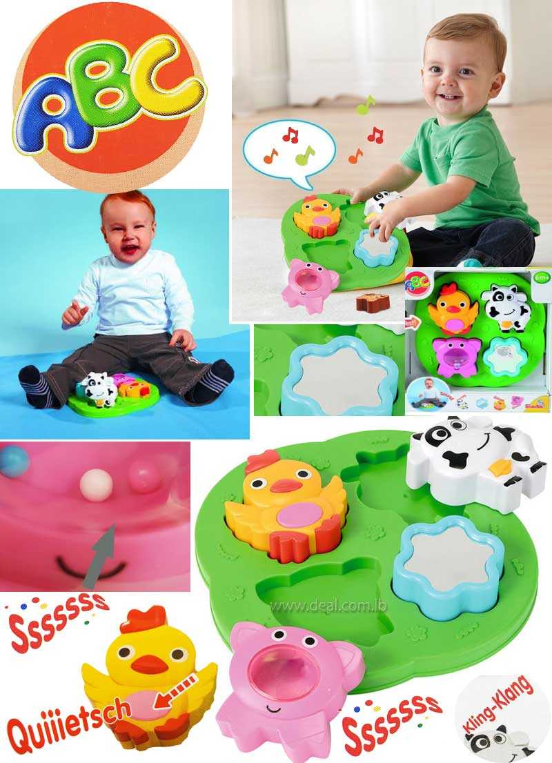 Baby Puzzle Farm 4 puzzle coins in Debating 6M plus  original