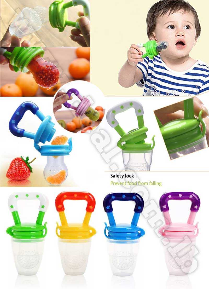 Baby Teether Fruit Pacifier Food Supplement Silicone Teether Fresh Food Teething Toy Feeder Stick Pacifier