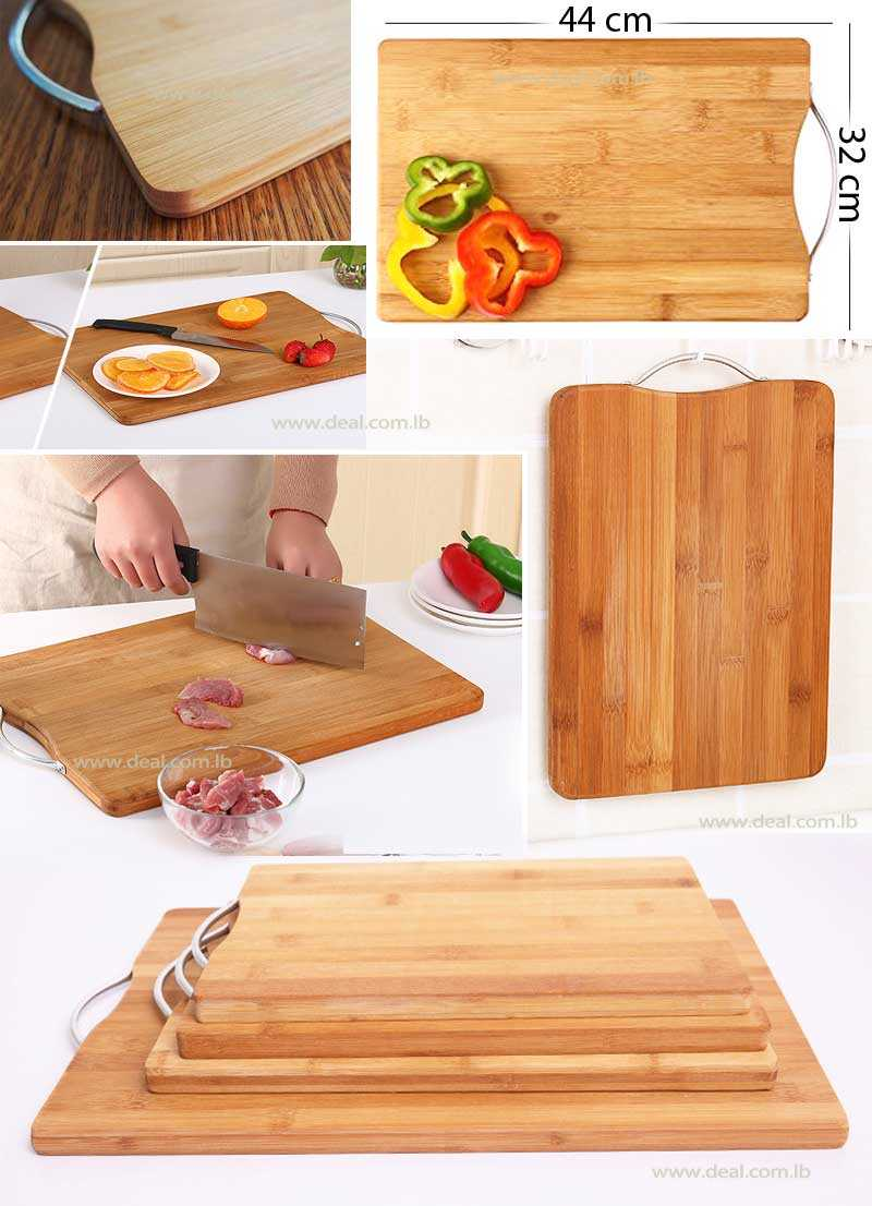 Bamboo Cutting Board With Handle 44 cm