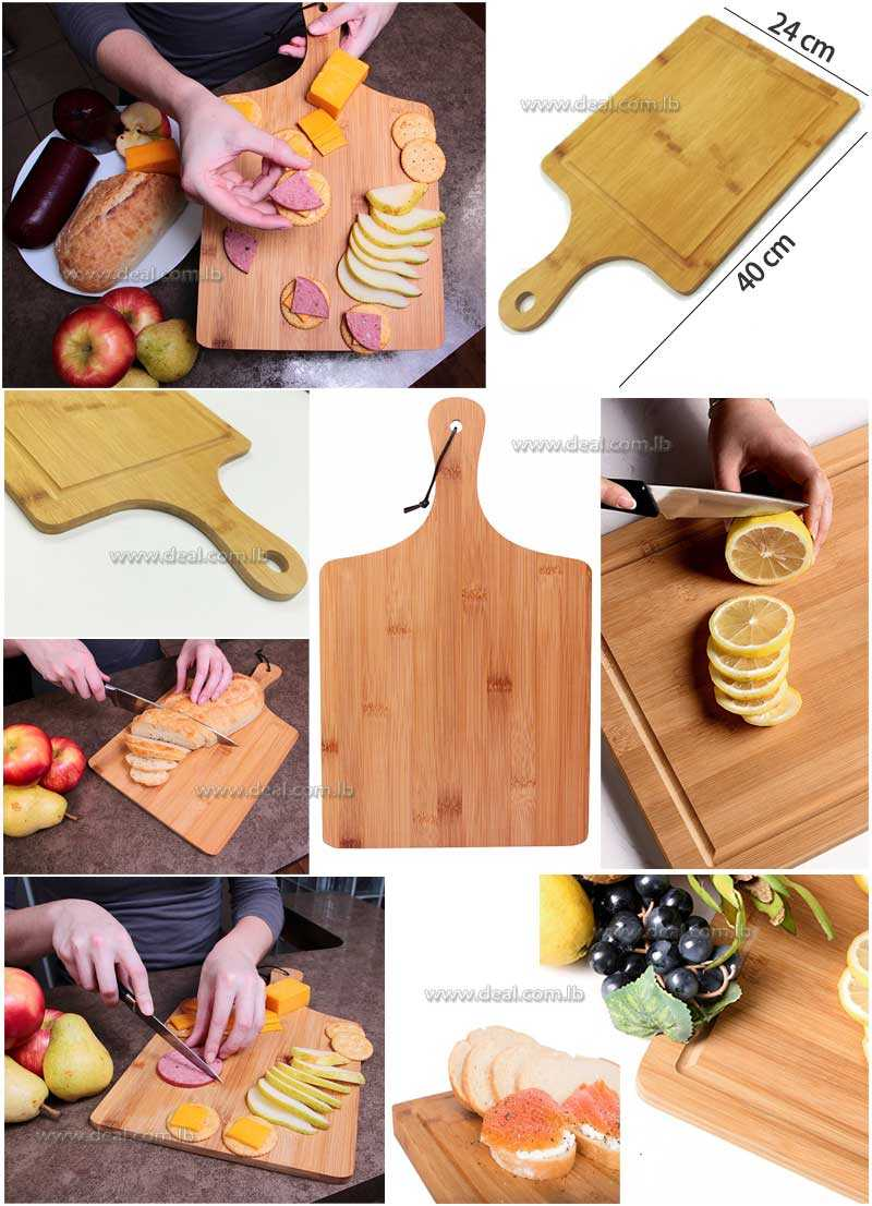 Bamboo board cutting board kitchen baking the pizza plate bread plate fruit plate tray