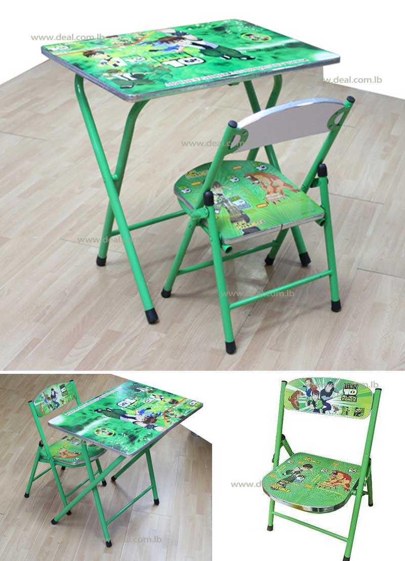 Ben Ten Kids Foldable Study Table And Chair