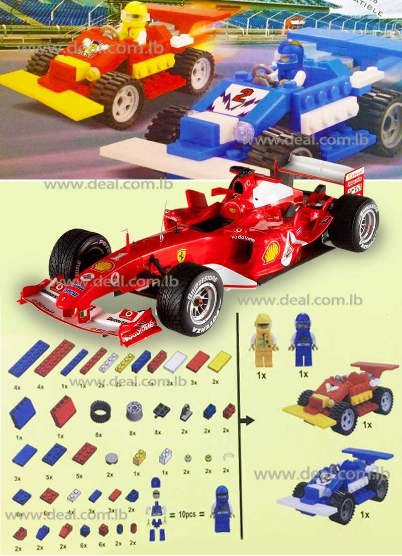 Best-Lock Race Car Set 160 Pieces