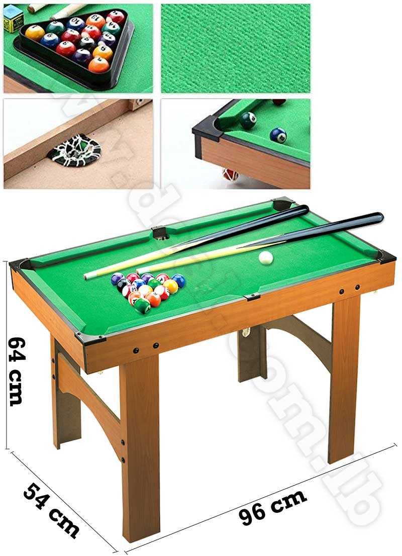 Billiard ball high foot portable wooden For Family And Kids