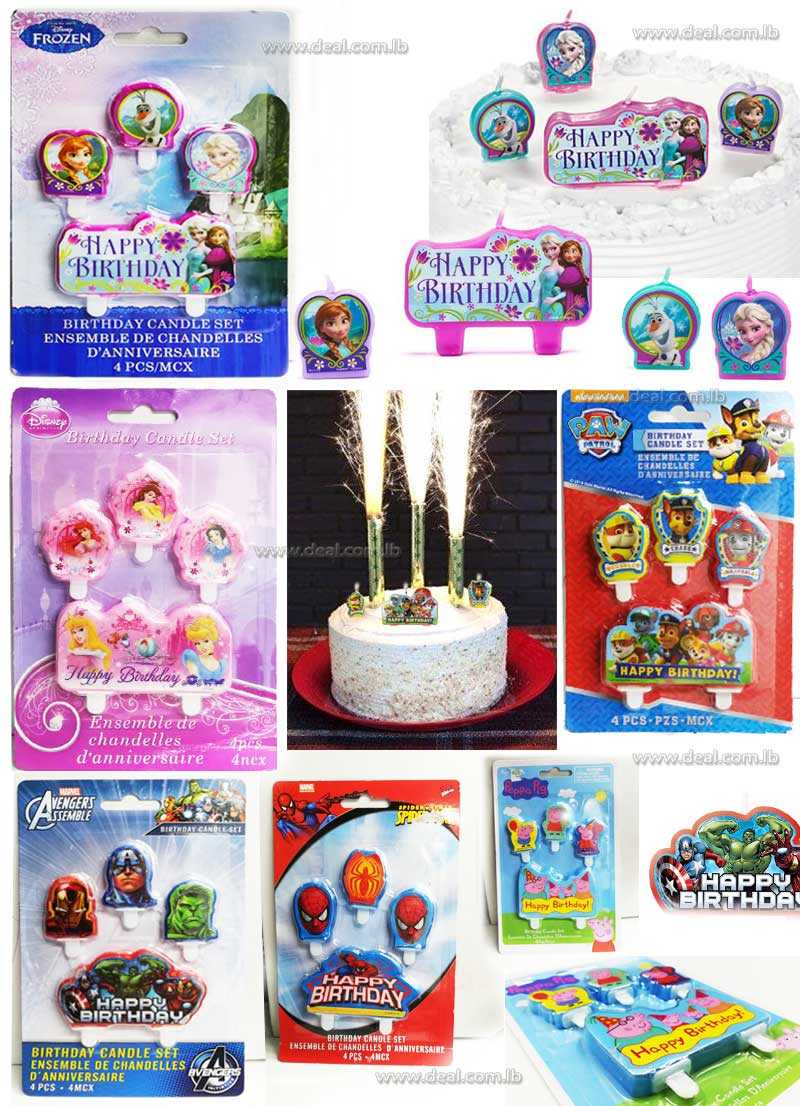 Birthday Candle Set candles toppers