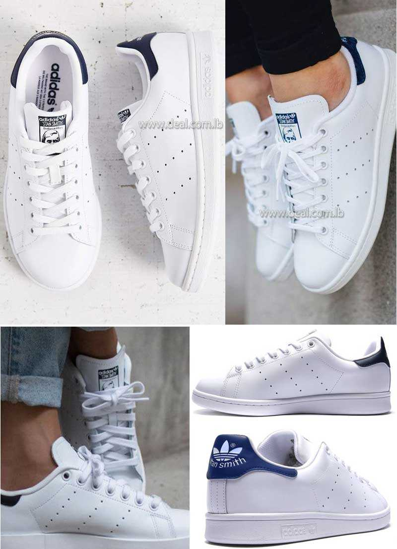 Black and Dark blue Stan Smith Trainer Adidas shoes