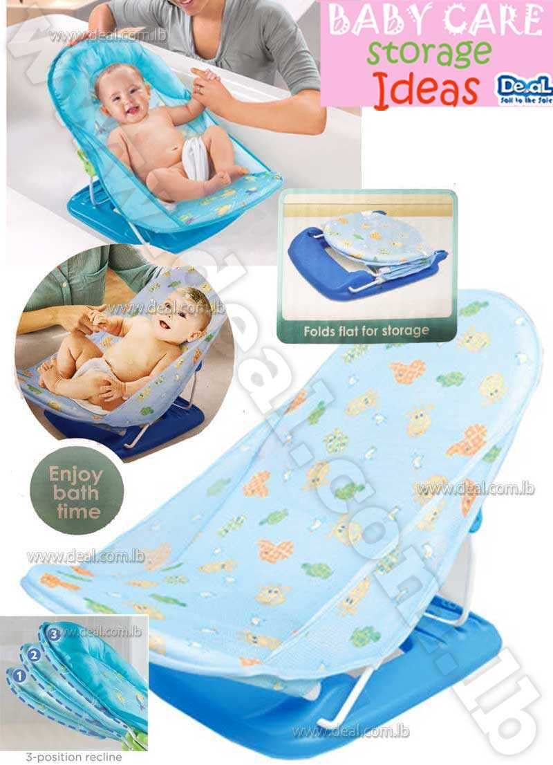 Blue Color 3 Reclining Backrest Positions  Infant Deluxe Baby Bather