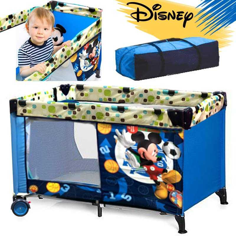 Blue Mickey Mouse Baby Bed