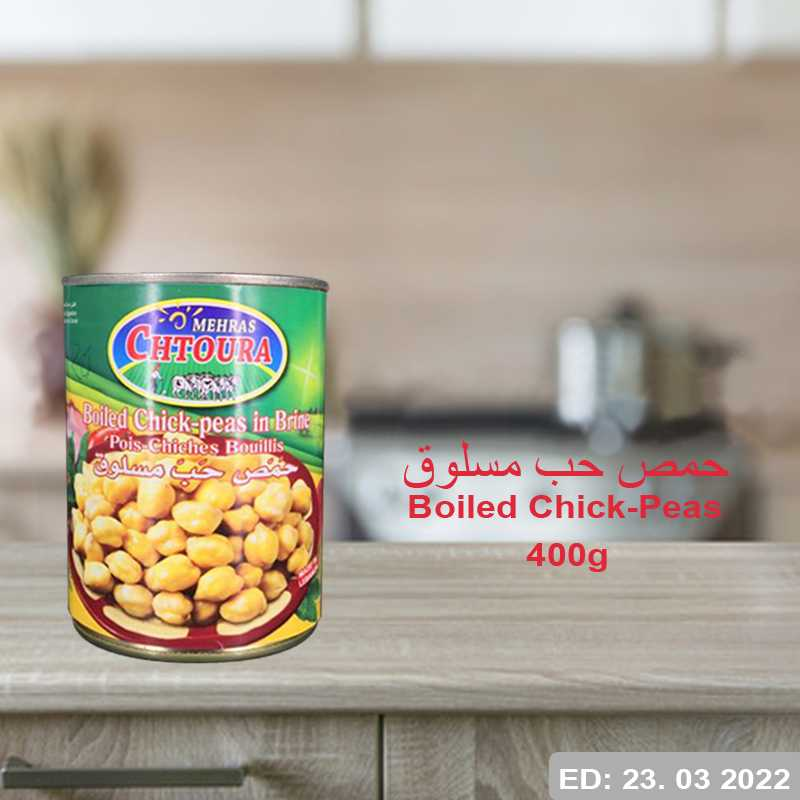 Boiled Chick-Peas 400