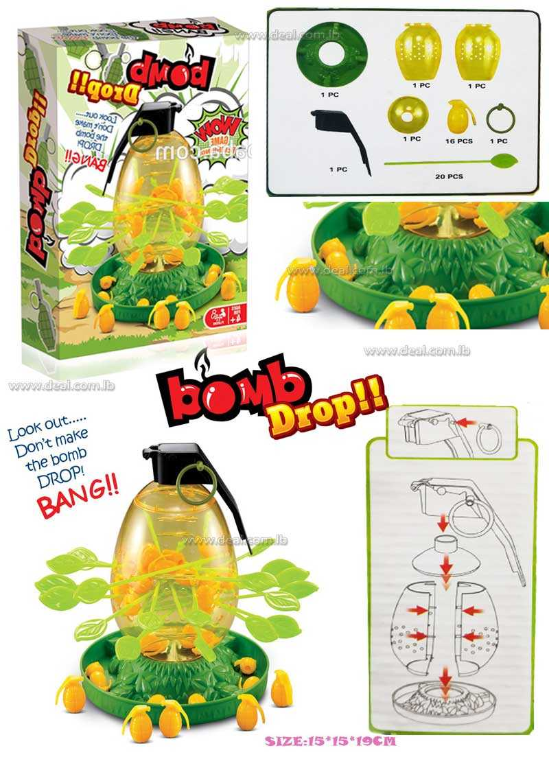 Bomb Drop Bang Game Develop Attention And Patience Plastic Indoor