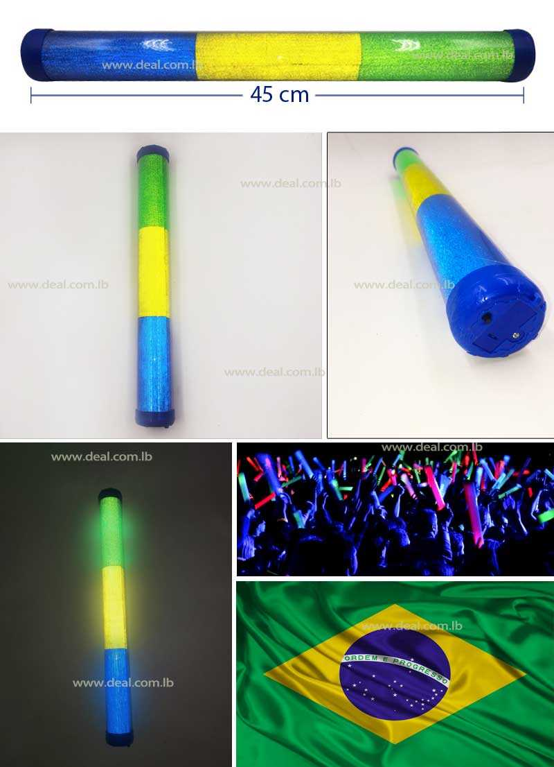 Brazil LED Plastic Stick