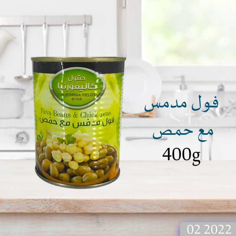 CALIFORNIA FIELDS  FAVE BEANS & CHICK PEAS 400g