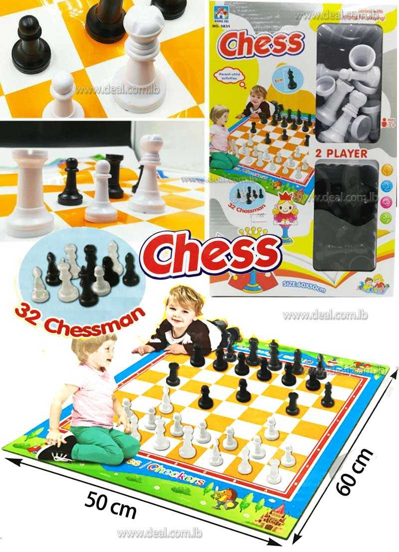 CHESS AND CHECKERS KIDS PLAYMAT FUN