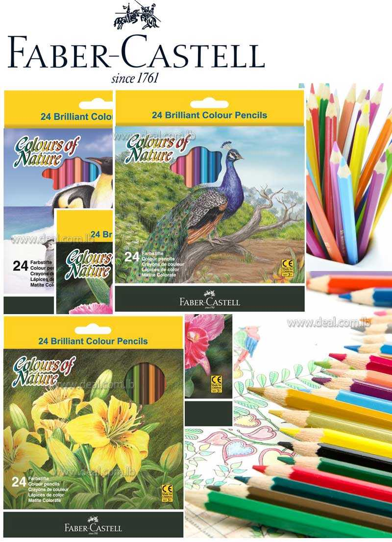 COLORS OF NATURE - SET OF 24 COLORED PENCILS FABER-CASTELL