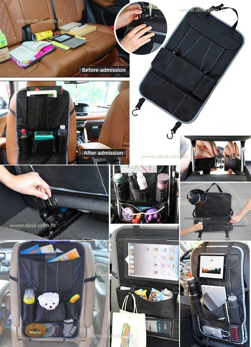 Car Backseat Organizer With iPad Tablet Holder