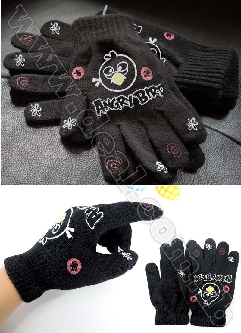 Angry Bird Childrens Kids Boys Girls winter gloves Mittens