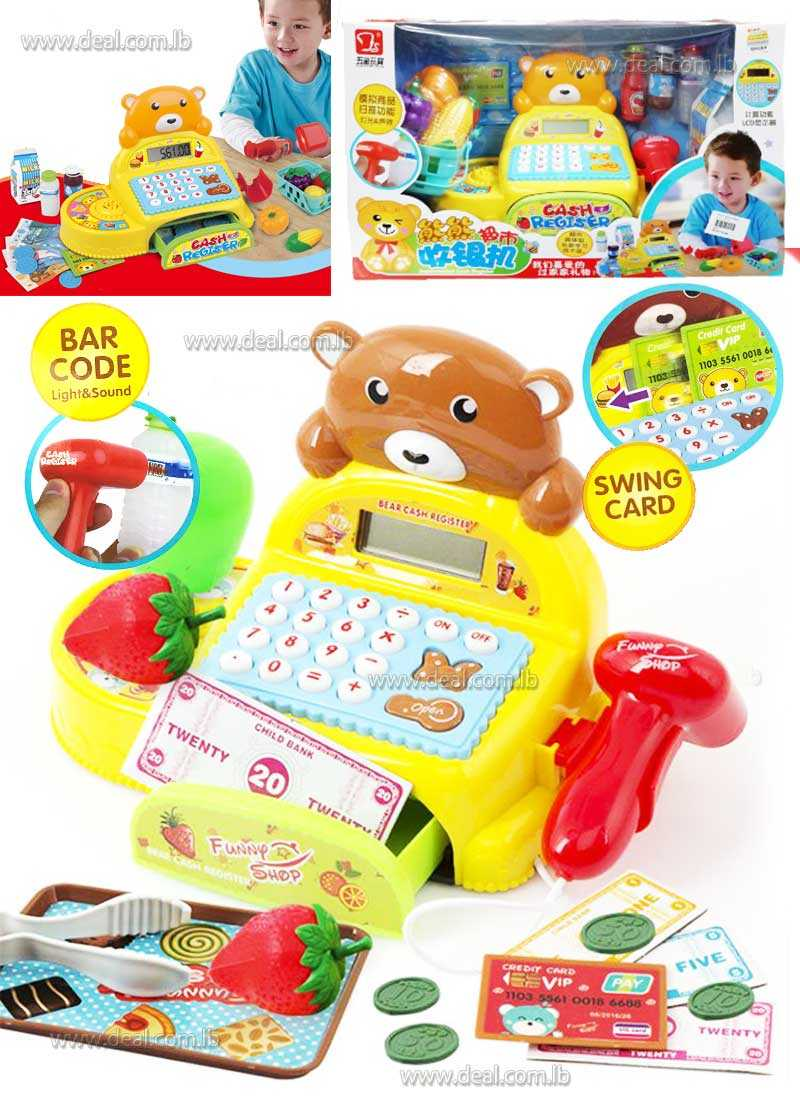 Bear Bear Super Market Cash Register Play Set