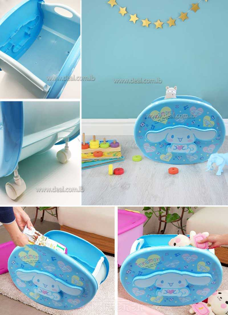 Childlike Pulley Bin Storage Box For Toys Snacks Sundries Holder Office