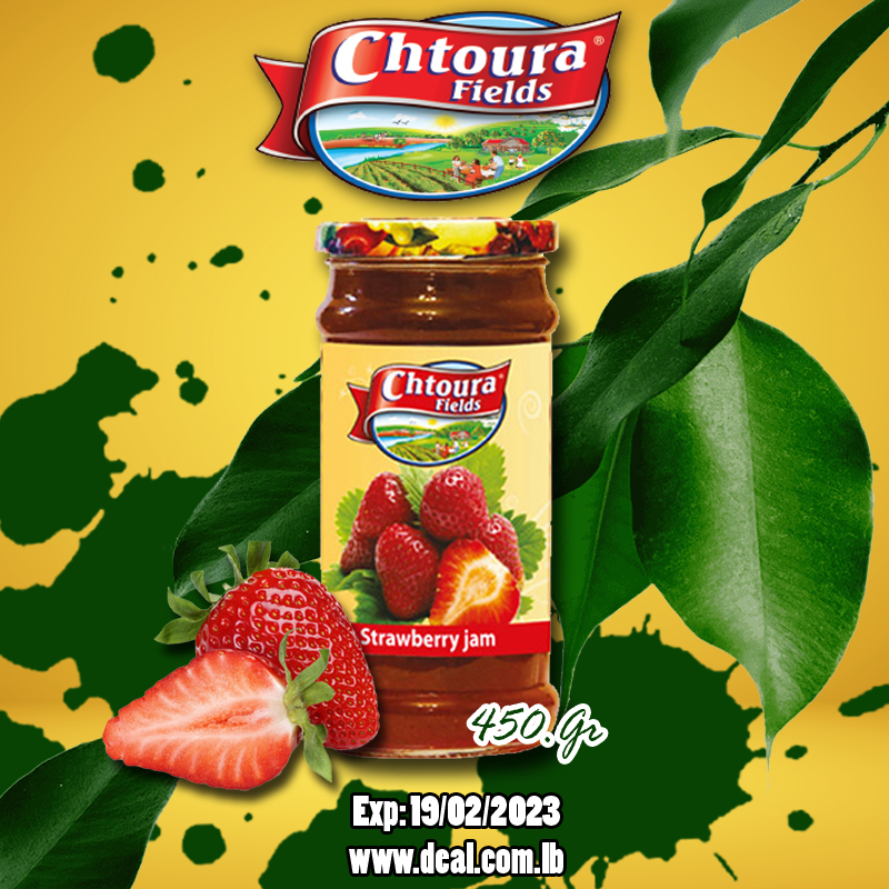 Chtoura Fields Strawberry Jam 450 G