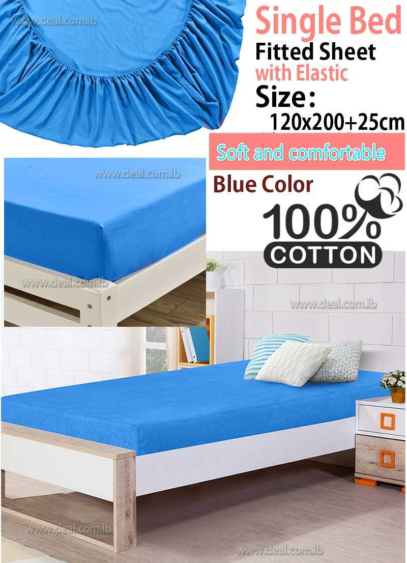 Classic Blue Fitted Sheet With Elastic