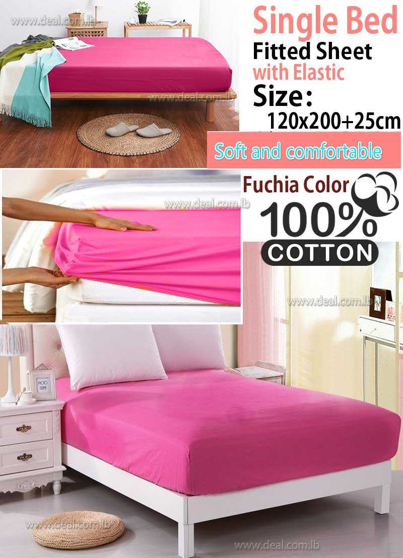 Classic Fuchia Fitted Sheet With Elastic