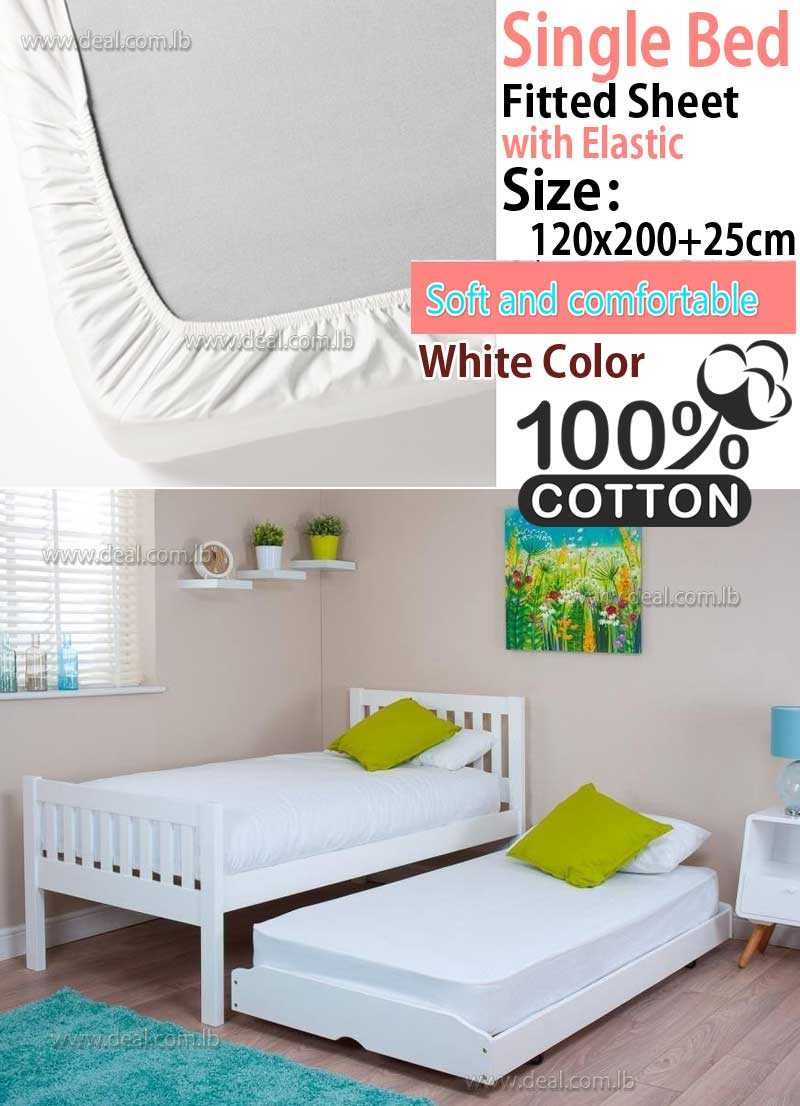 Classic White Fitted Sheet With Elastic