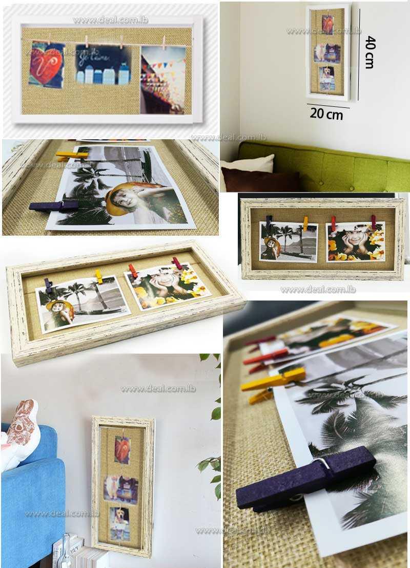 Clothesline Flip Picture Frame