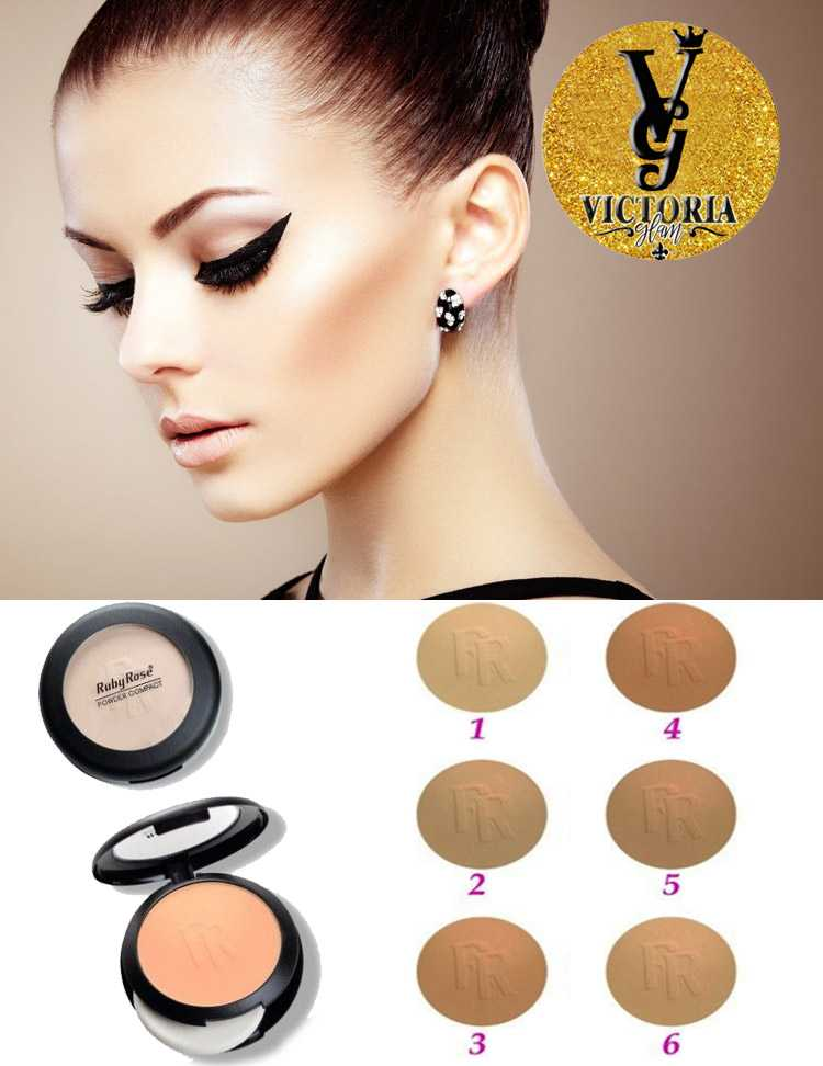 Compact powder for the face ruby rose powder compact face powder