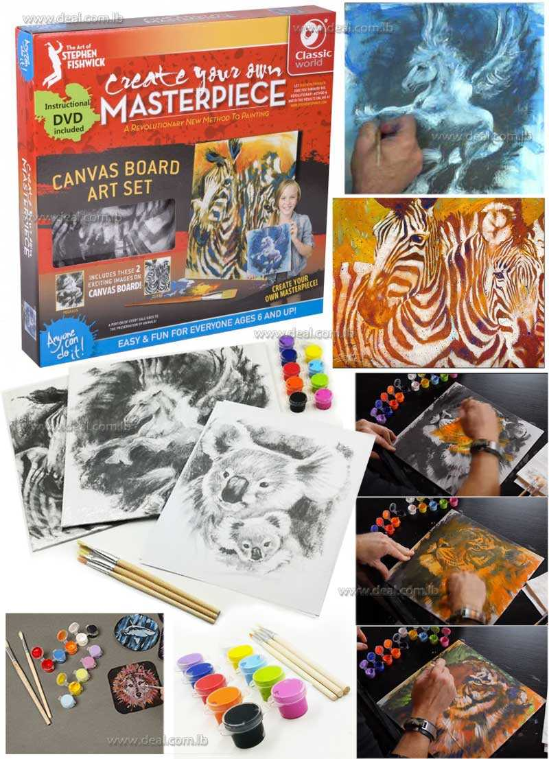 Create Your Own Masterpiece Pegasus Zebra Canvas Art Set