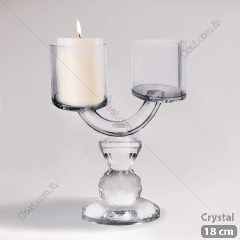 Crystal 2 candles holders 18cm