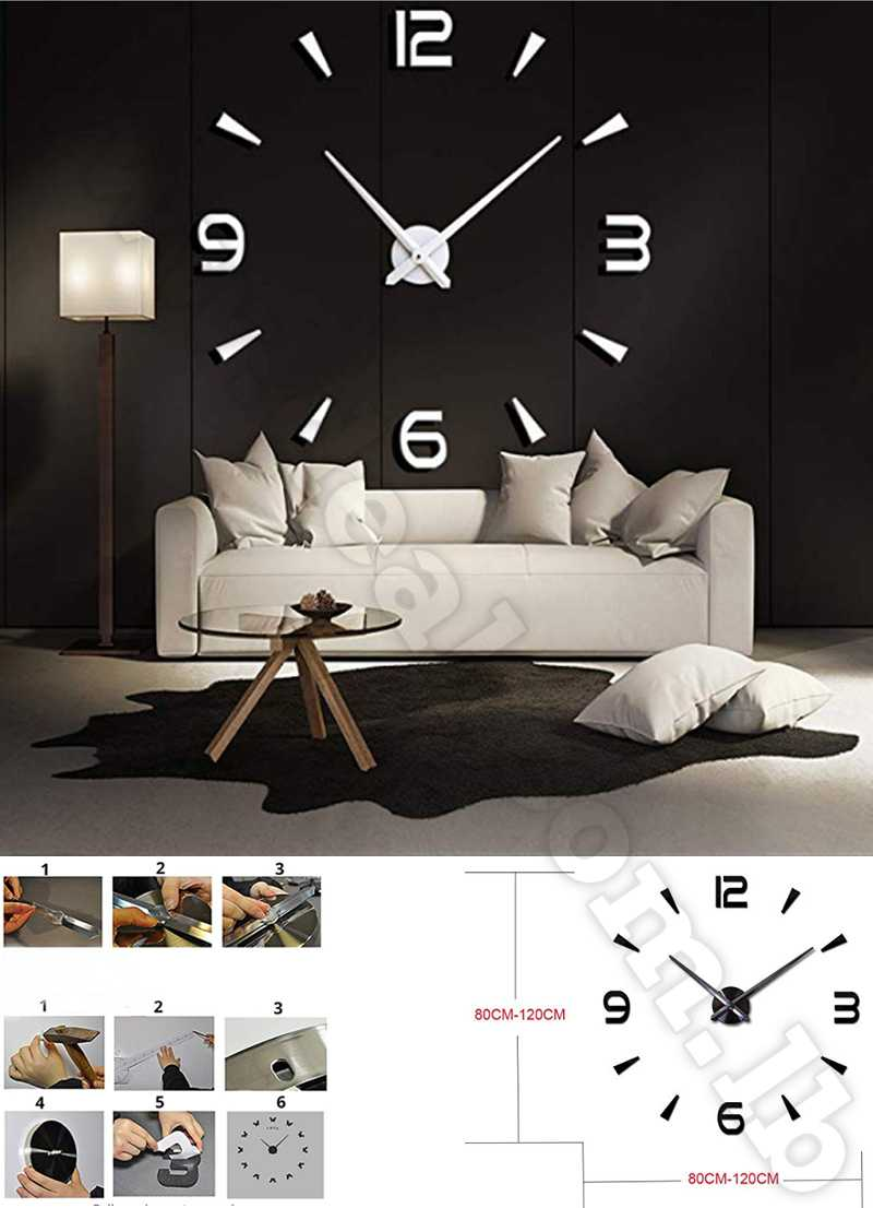 DIY Clock - Wall Clock KIT - The Perfect Treat Yourself with Adhesive white color