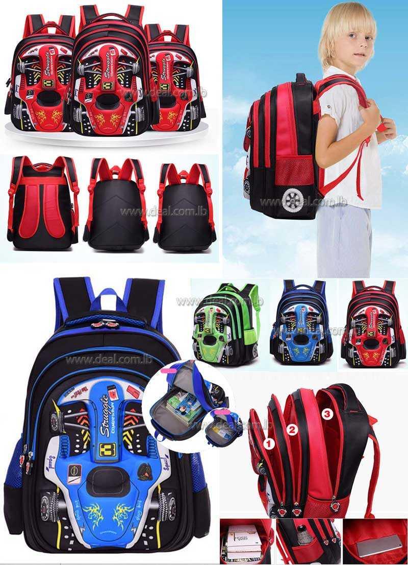 36ce623a03 Disney 3D Car School bags boys girls Children Schoolbag kids Primary school  Backpack Kids