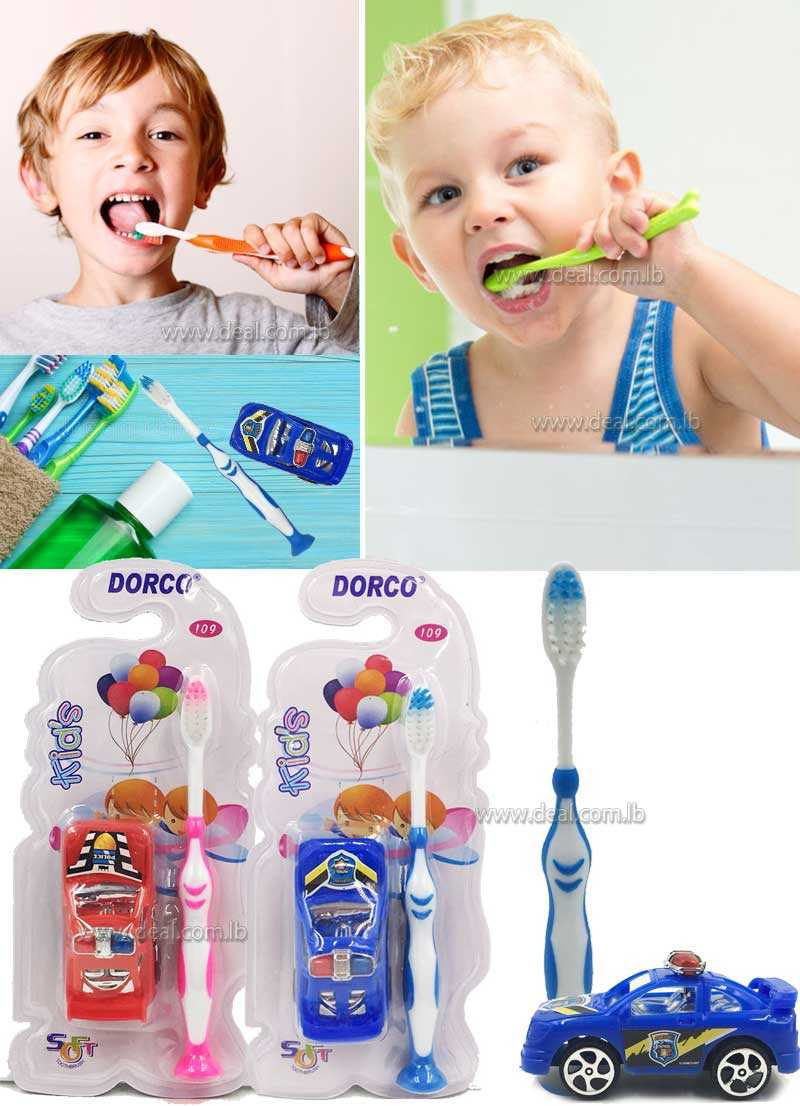 Dorco Soft toothbrush with small car