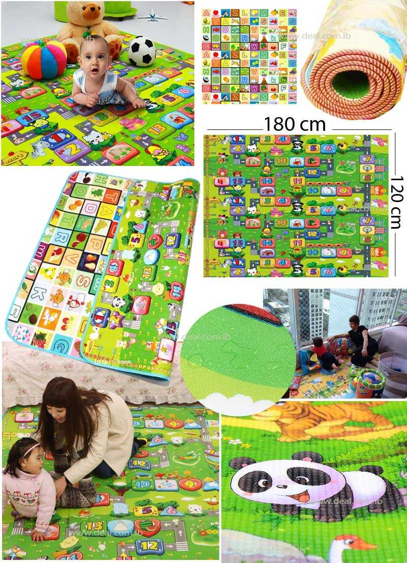 Double Baby Playmats Face To Room Educational Child Farm Animals Development Baby Mattress Baby Carpet Color Random Letter
