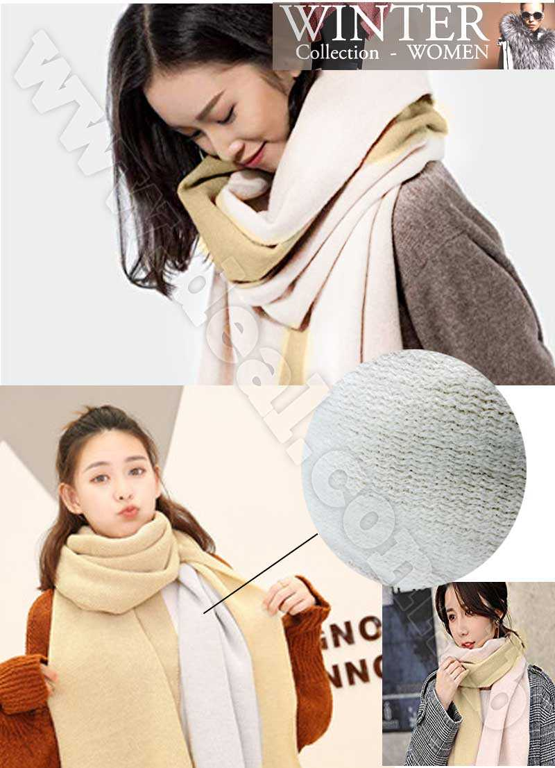 Double Sided Scarf Female Wild Thick Shawl