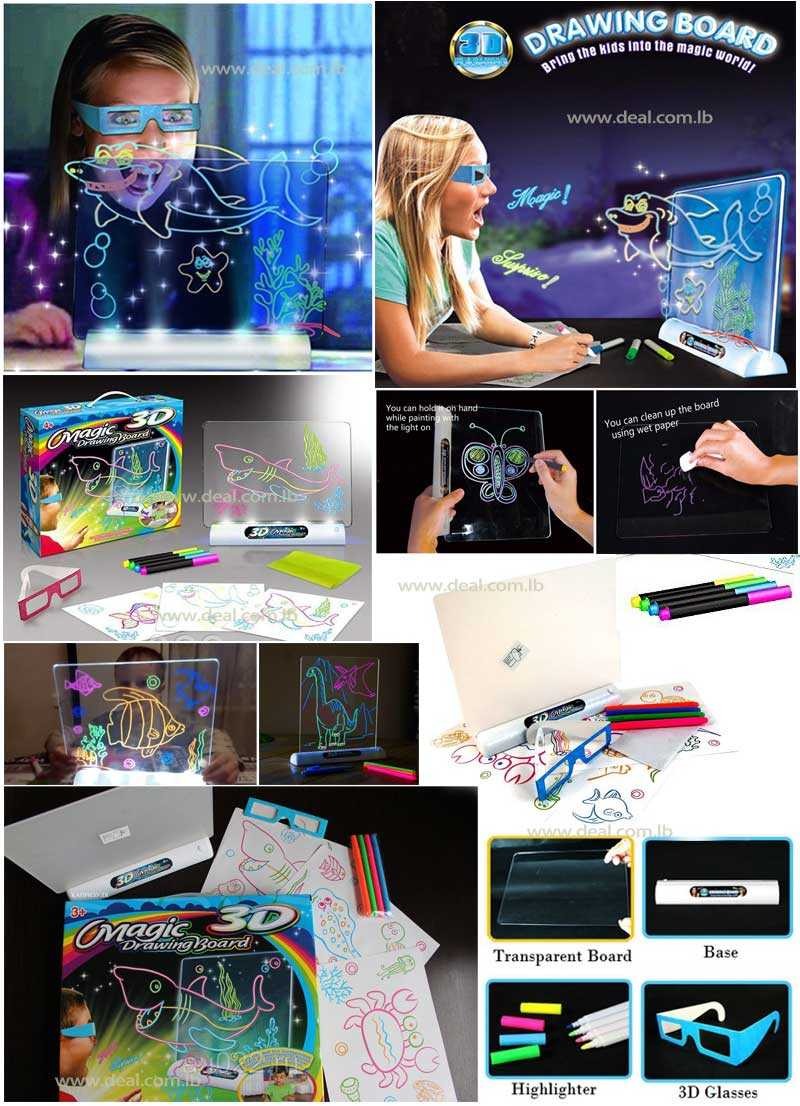 Drawing Board With Illumination And 3D Effect