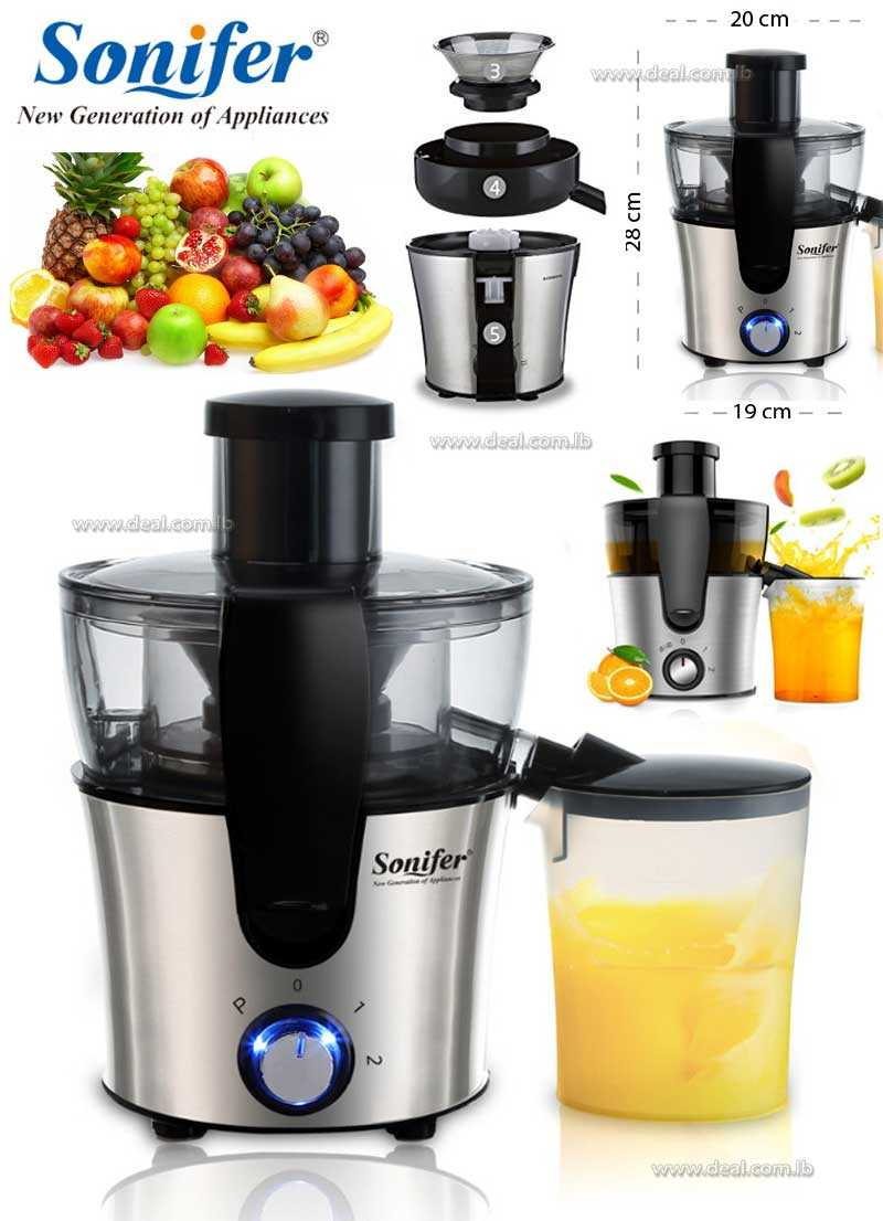 Dual Speed Fruit And Vegetable Juice Extractor Removable Stainless steel Juicers Fruit Drinking Machine