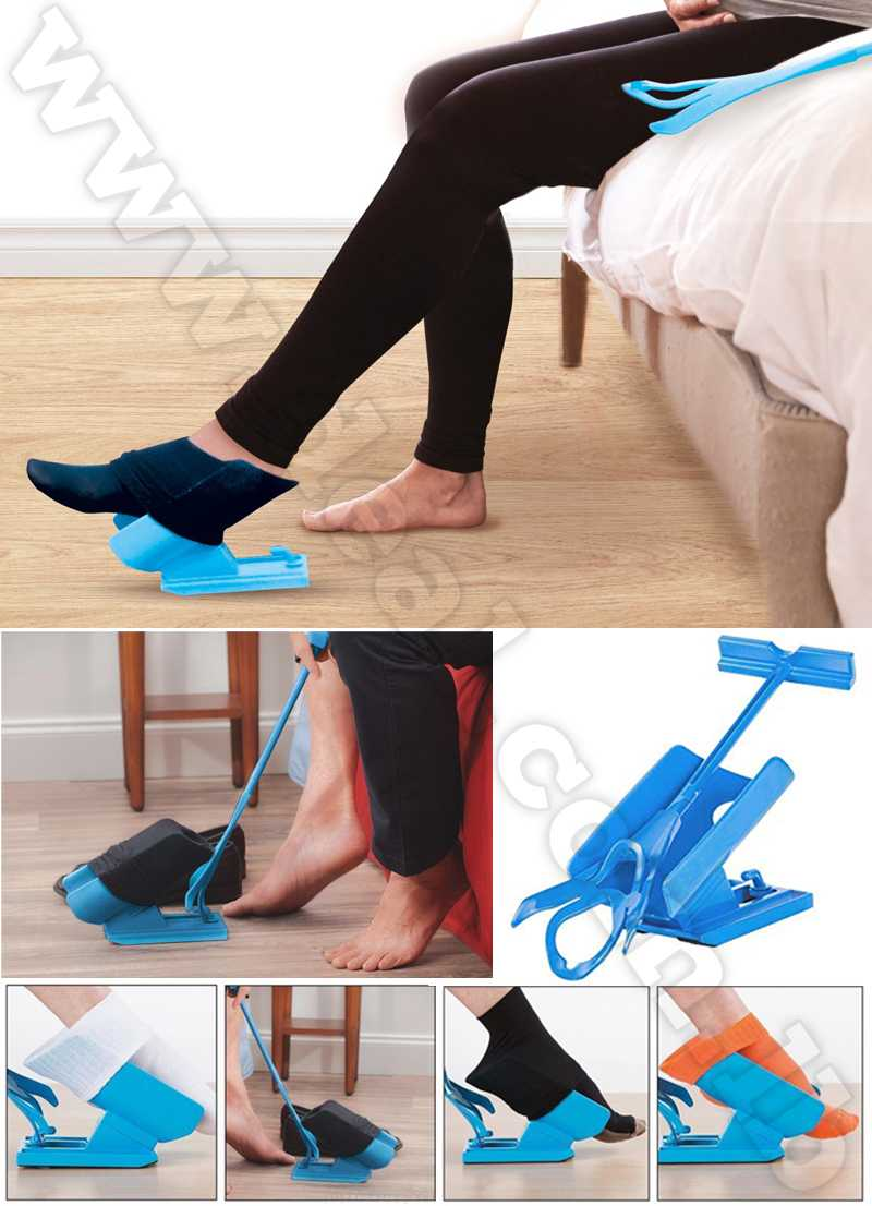 Easy Off Sock Aid Kit Sock Helper Slider Fast & Easy Way To Put On Socks Pregnancy and Injuries Living Tool