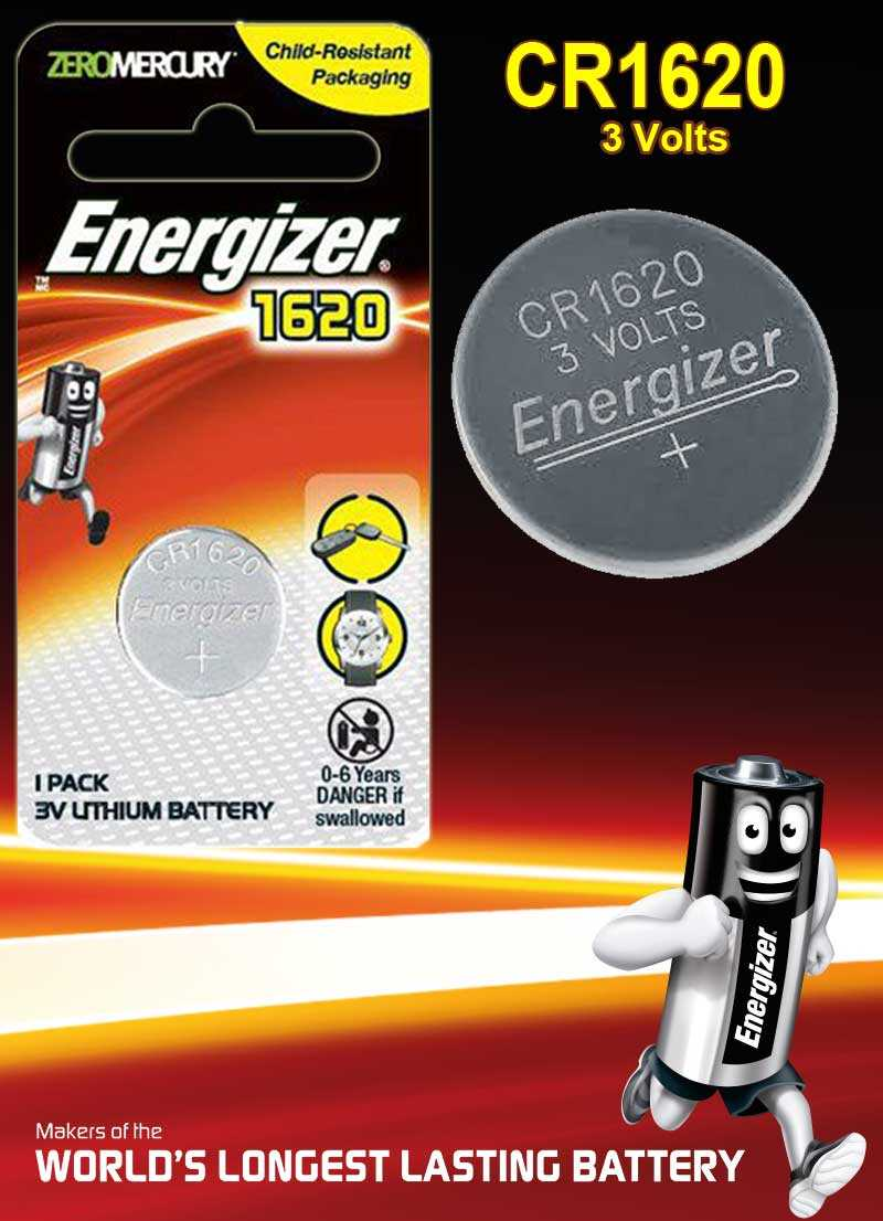 Energizer Battery CR1620 3V