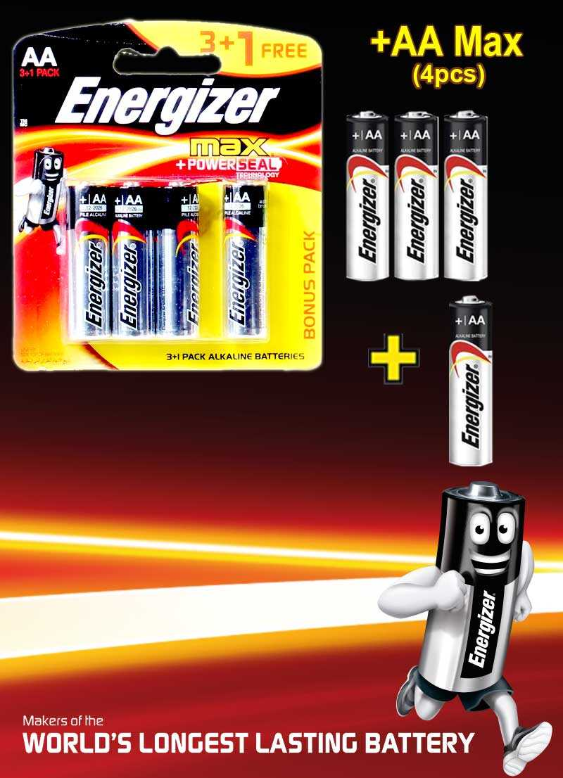 Energizer Max+Powerseal AA 4 Pieces