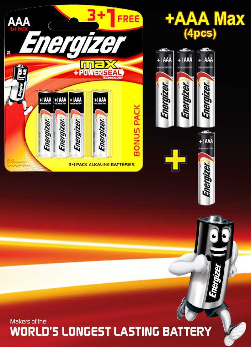 Energizer Max+Powerseal AAA 4 Pieces