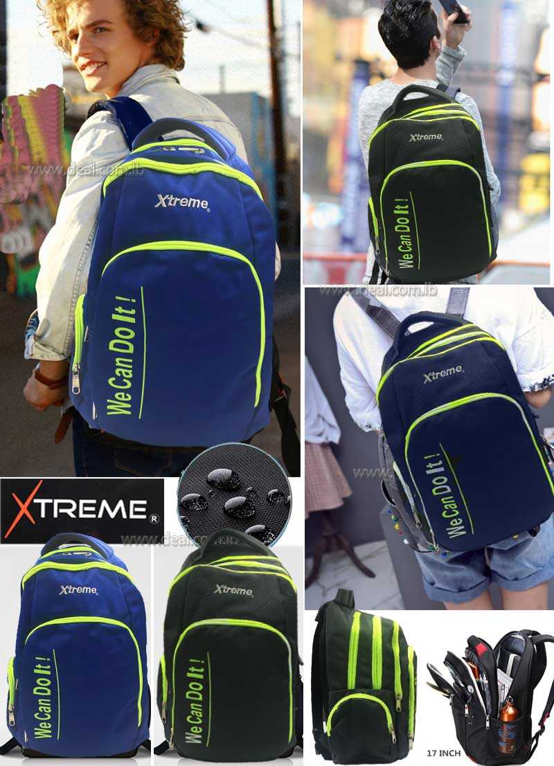 Extreme 3 pockets school bags waterproof for boys and girls