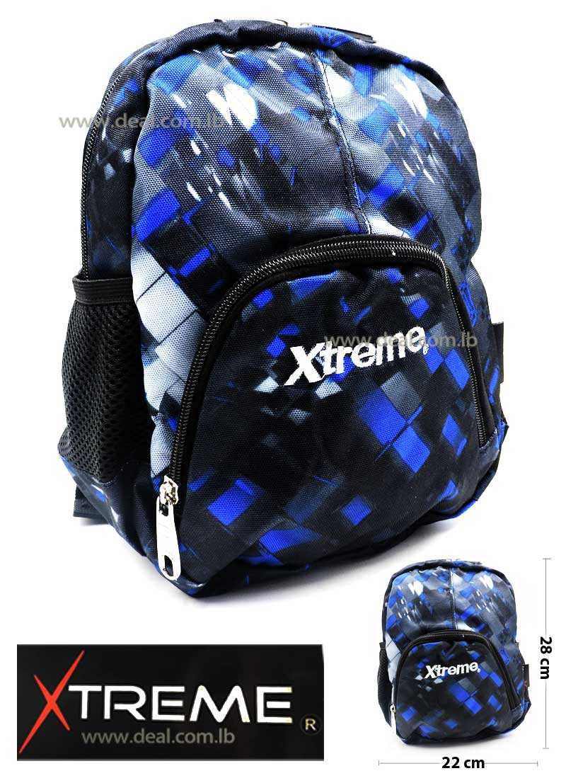 Extreme Blue and Black One Pocket School Bag For Girls And Boys Kids