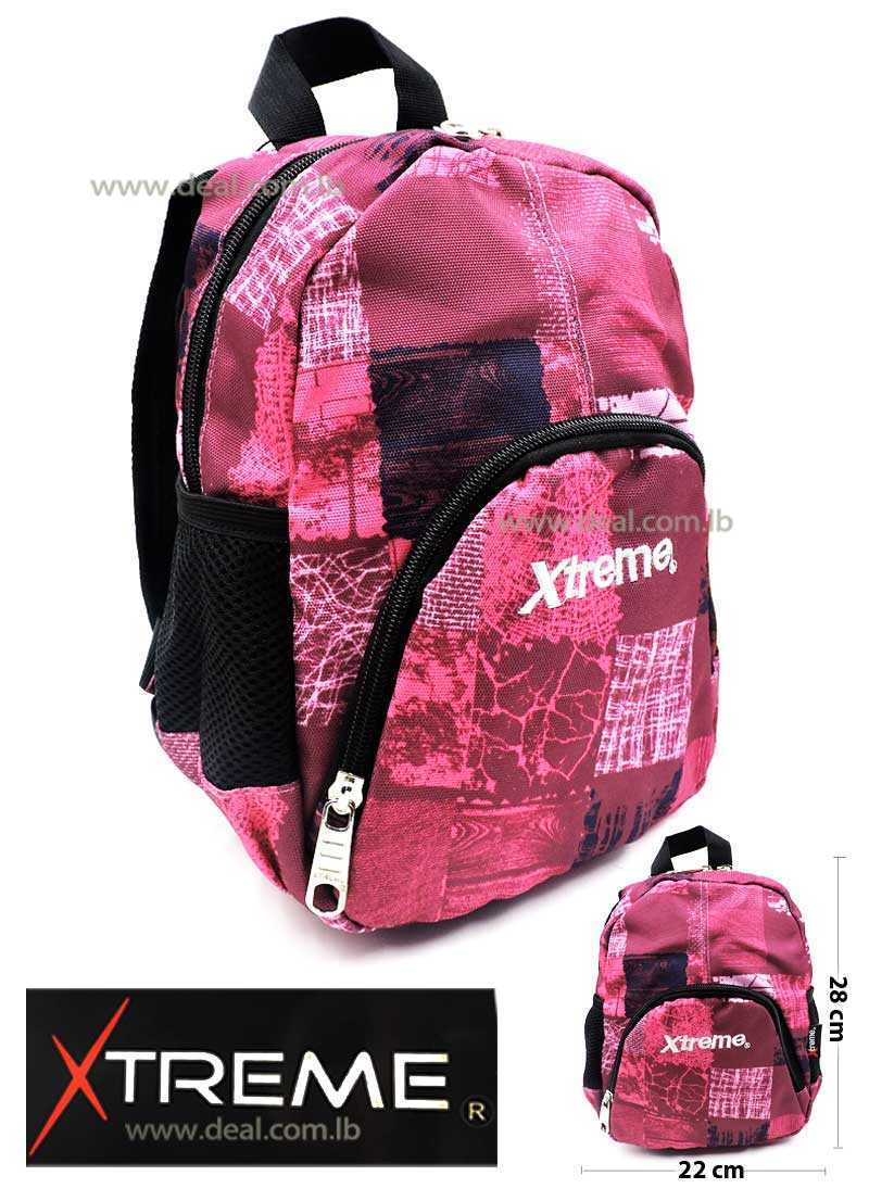 Extreme Pink One Pocket School Bag For Girls And Boys Kids