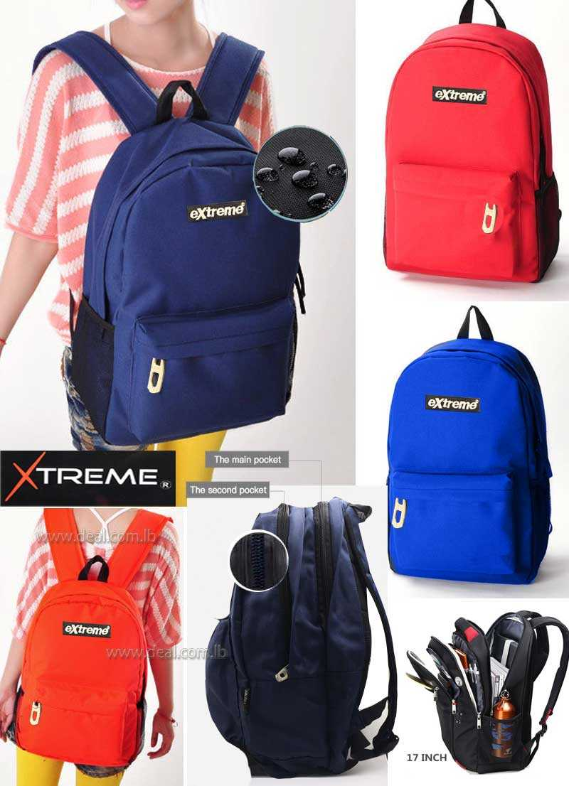 Extreme2 pockets nude design  Campus Backpack High Quality School Backpacks Less Is More School Bags For Teenagers