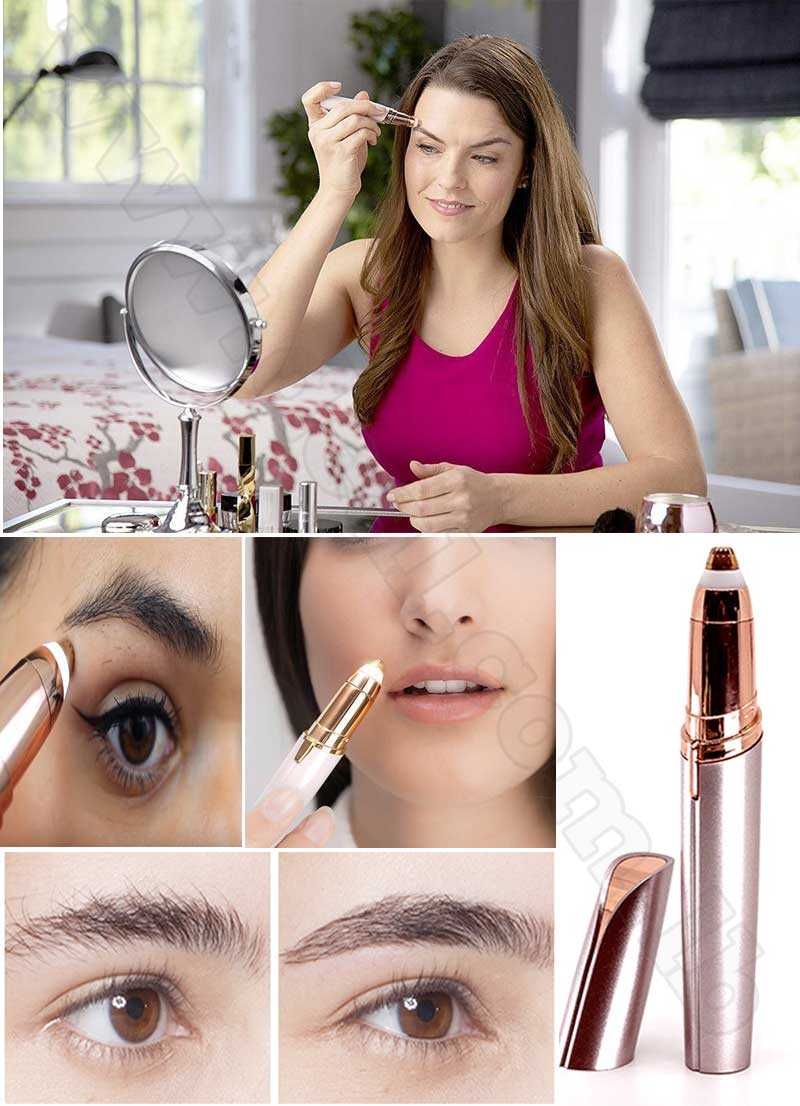 FLAWLESS BROWS  ELECTRIC EYEBROW PAINLESS SHAVER