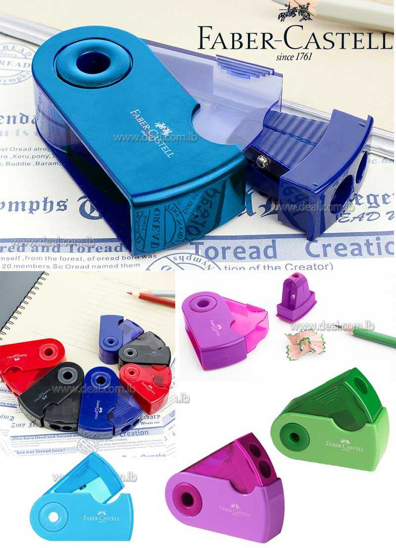 Faber Castell mini sleeve pencil sharpener Single Hole with container Office and School Supplies