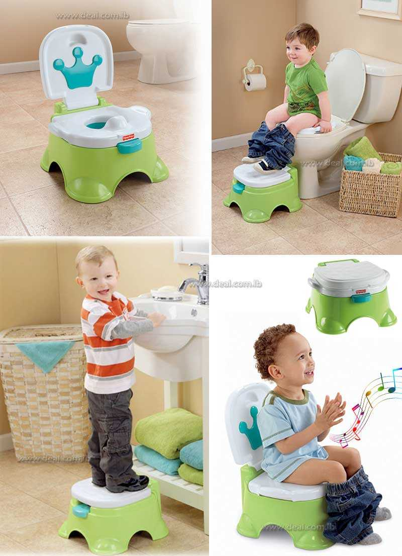 Fisher Price Royal Stepstool Potty  Green