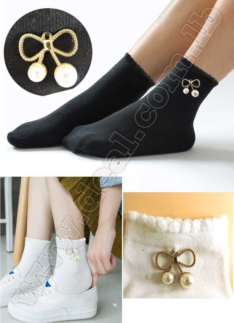 Flash socks trend beads Flowers hot drill sequin color in the tube heap pile socks