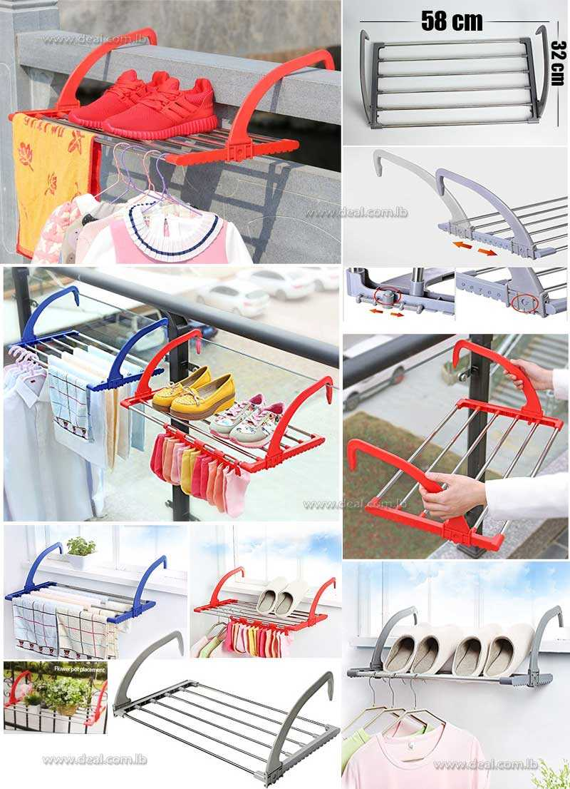 Folding Clothes Rack  Outdoor Easy Install Folding Clothes Drying Rack Hanging over the door